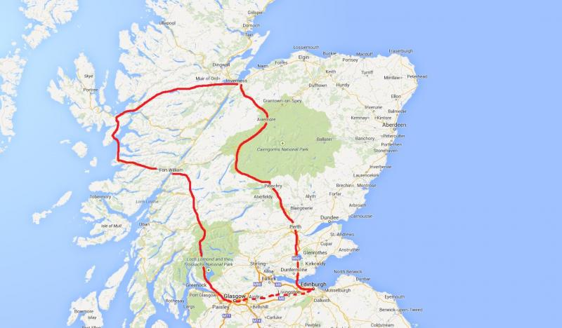 Train Routes In Scotland Map.Uniquely Scotland Train Itineraries