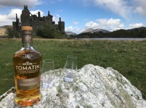A wee dram at Kilchurn Castle...
