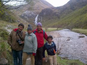 Prashant and family, Nigeria