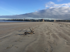 St Andrews from the West Sands Beach
