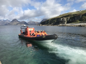 Option of a Rib boat trip on Skye (weather dependent!)