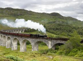 The legendary Jacobite Steam Train at Glenfinnan