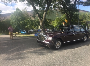 Royal Family on their way to the Braemar Gathering