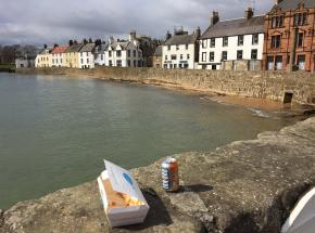 Fish and chips from the Wee Chippy in Anstruther