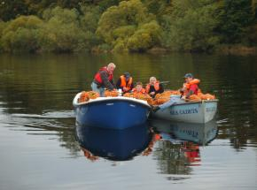 collecting island apples for the Cairn O Mhor winery
