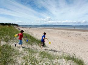 Sandy beach, Nairn