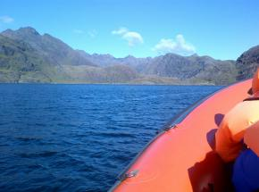 RIB Boat from Elgol into the stunning Loch Scavaig, Skye