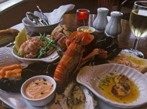 Delicious local seafood