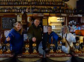 Sample some excellent local Scottish beers...