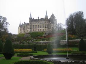 A very autumnal looking Dunrobin Castle...