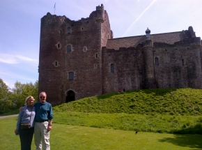 On tour at the famous Doune Castle