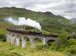 Glenfinnan Viaduct on the world famous Fort William to Mallaig railway