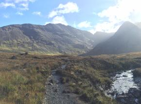 Stunning walk up to the Fairy Pools on the Isle of Skye