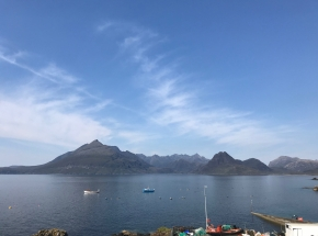 The dramatic Cuillin mountains on Skye