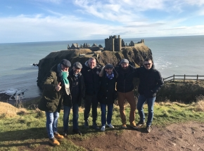 Moreno and the team at Dunnottar Castle