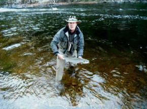 Salmon fishing on the river Findhorn