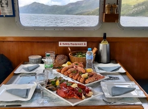 Seafood lunch on private boat charter...