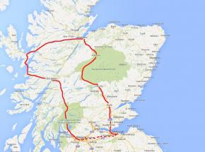 Outline route map