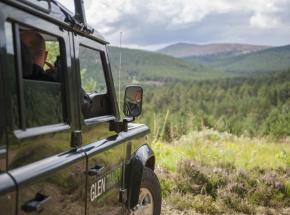 Landrover Safari on the beautiful and secluded Glen Tanar Estate